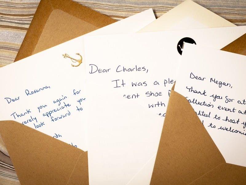 Handwritten Thank You Notes for Customer Appreciation